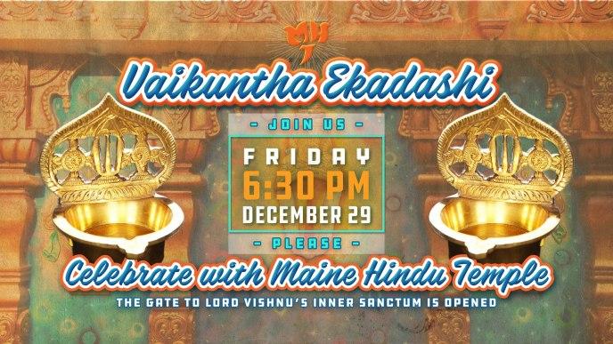 Vaikuntha Ekadashi – Friday, December 29th, 2017