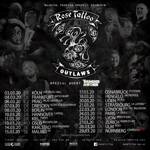 Rose Tattoo Tour Poster