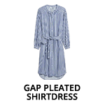 Gap Pleated Shirtdress