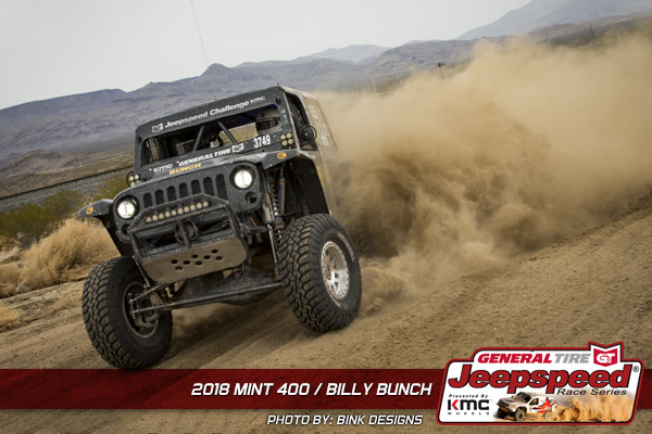Jeepspeed, Billy Bunch, General Tire, KMC Wheels, Jeep JK
