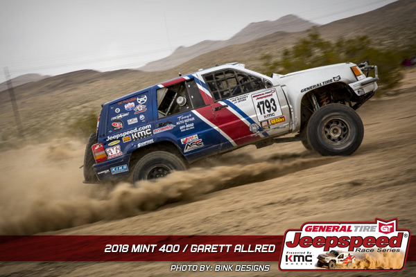 Jeepspeed, Garett Allred, General Tire, The Mint 400, KMC Wheels, GG Lighting, Bink Designs