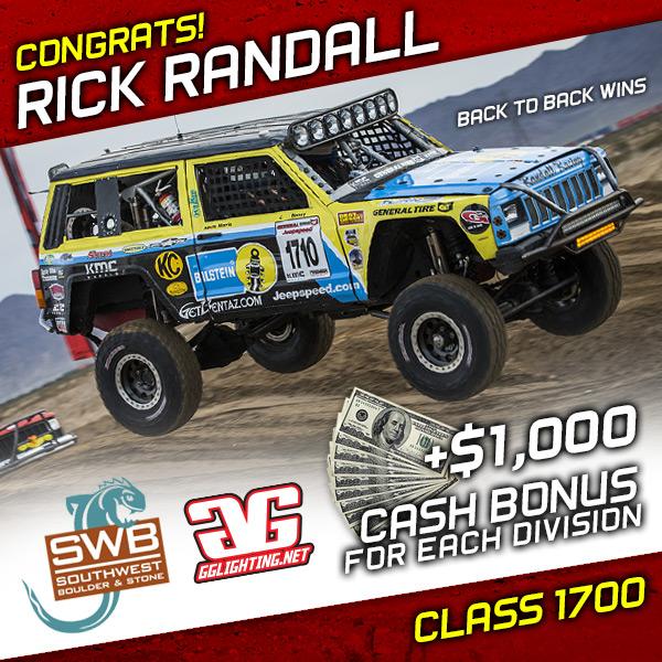 Rick Randall, Jeepspeed, General Tire, KMC Wheels, Southwest Boulder & Stone, GG Lighting