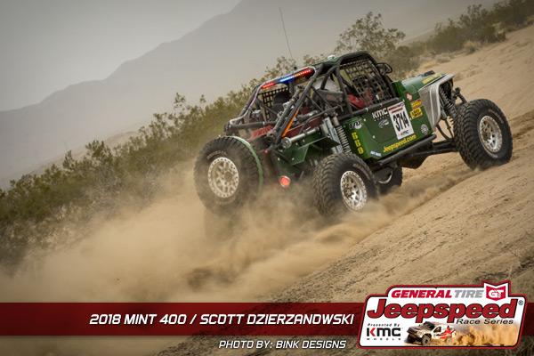 Scott Dzierzanowski, Jeepspeed, General Tire, KMC Wheels, Bink Designs
