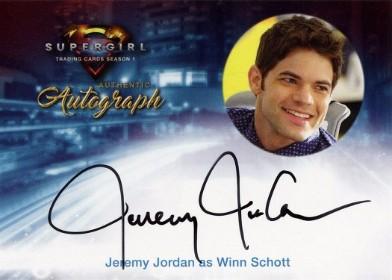 Supergirl Trading Cards Season 1 - Autograph Card - Jeremy Jordan