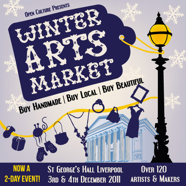 Winter Arts Market at St George's Hall Liverpool 10am-5pm 3rd & 4th December 2011