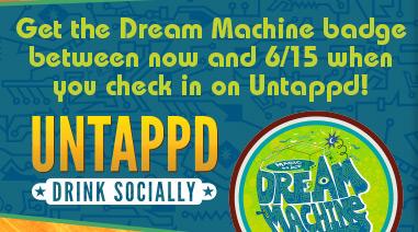 Untappd Dream Machine badge