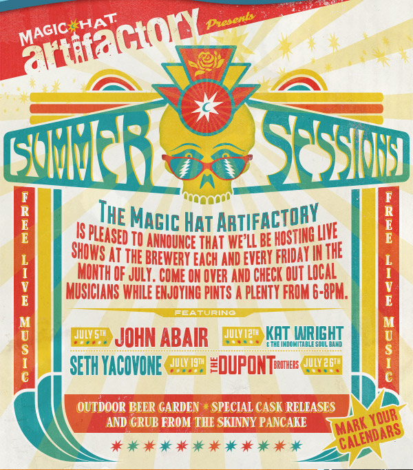The Artifactory™ Presents: Summer Sessions! - Come on over and check out local musicians while enjoying pints a plenty from 6-8pm.