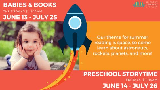 Summer Babies & Books, Preschool Storytime flyer