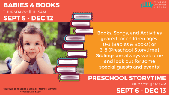 Babies & Books and Preschool Storytime Info