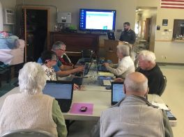 Intro to Internet class at the senior center