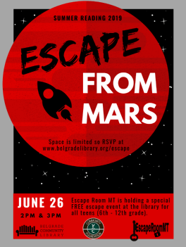 Teen - Escape from Mars flyer