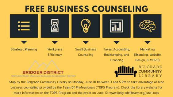 Free Business Counseling Flyer