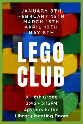 LEGO Club - second Wednesdays