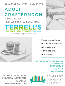 Adult Crafternoon - Feb 8