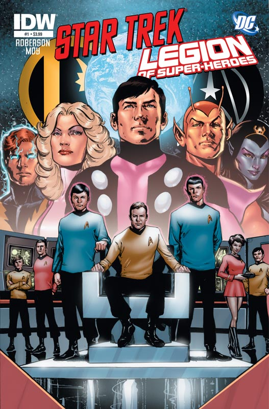 Star Trek/Legion of Super-Heroes #1 cover A