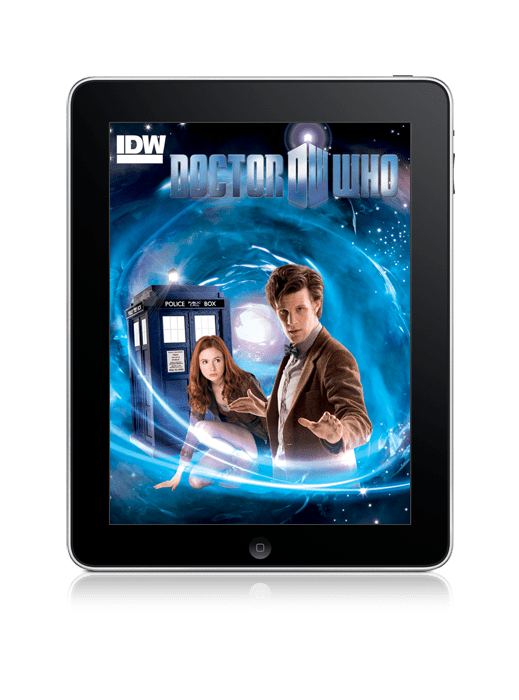 [Doctor Who comics on the iPad]