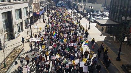 Anti-Trump protest Chicago
