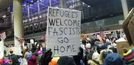 Refugees welcome; fascists go home