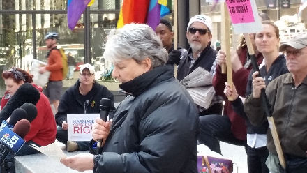 Women's liberation movement activist Terry Moon