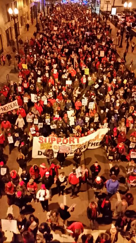 Chicago teachers & allies on the march!