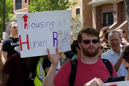 Housing is a human right!