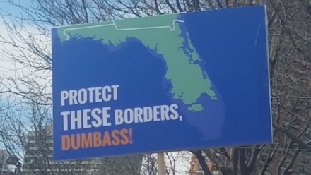 Protect THESE borders, dumbass!