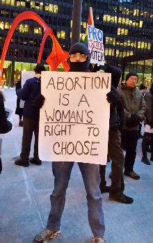 Abortion is a WOMAN's right to choose