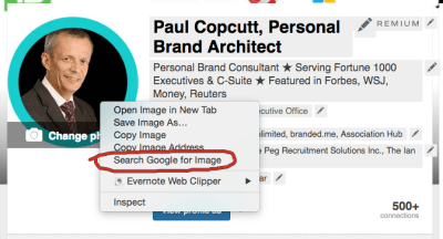 Google Image Search a 'Fake' LinkedIn Headshot With One