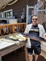Team Hometown Bicycles rider Steve Wortley gone fishing