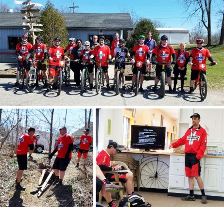 IMBA's National Mountain Bike Patrol training took place right here at Hometown Bicycles
