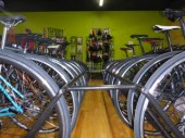 Rows of bicycles at Hometown Bicycles new location