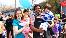Hometown Bicycles' Shaun and Dawn Bhajan and family