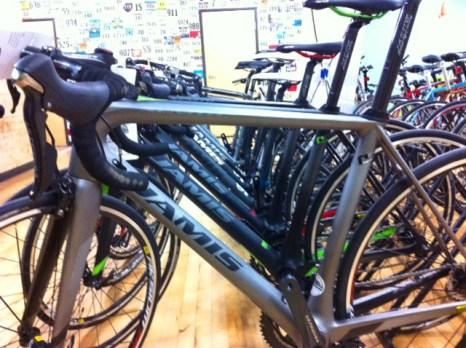 Carbon road bikes at Hometown Bicycles