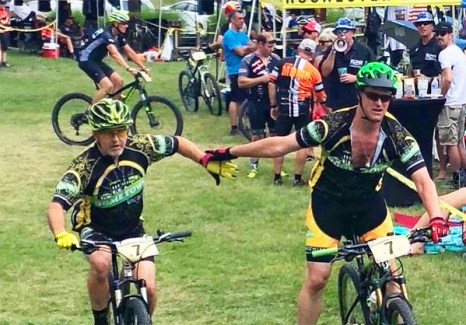Team Hometown Bicycles at Tree Farm Relay - Mike Dyer and Jim Thompson