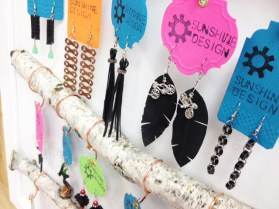 Bicycle part earrings by Aubrey Baumeier of Sunshine Design at Hometown Bicycles