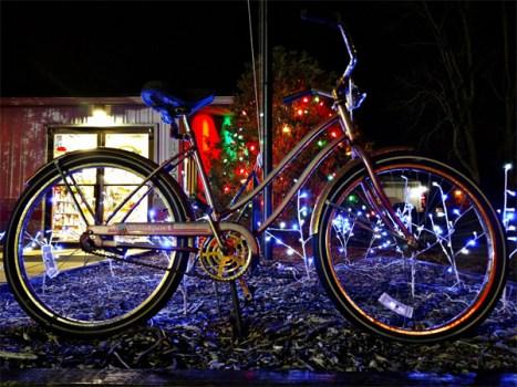 Hometown Bicycles Christmas bike with lights
