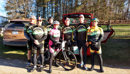 Team Hometown Bicycles at The Lowell 50 Gravel Road Race