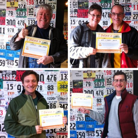 "Awesome Hometownies with their ""I Believe in Hometown Bicycles"" Gift Certificates"