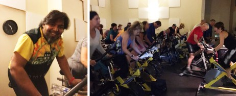 Shaun Bhajan of Hometown Bicycles LOVED riding the spin off at Hamburg Fitness Center