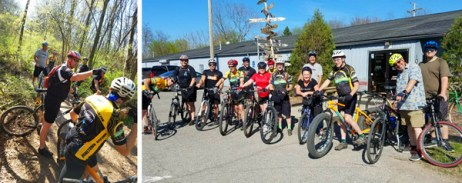 Last weekend's Exploring Trails Mountain Bike Shop Ride at Hometown Bicycles