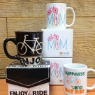 Mother's Day bicycle mugs