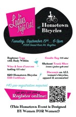 Ladies Night Out at Hometown Bicycles flier