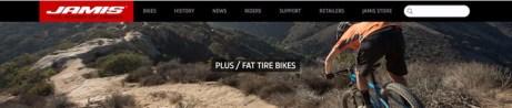 Jamis Bicycles fat bike website