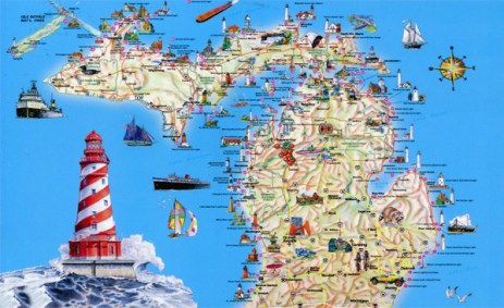 Michigan tourist map courtesy of Vidiani.com