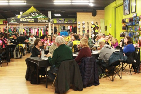 Team Hometown Bicycles 2018 Kit Pick-Up Party in full swing