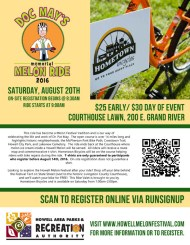Doc May Memorial Melon Ride flyer
