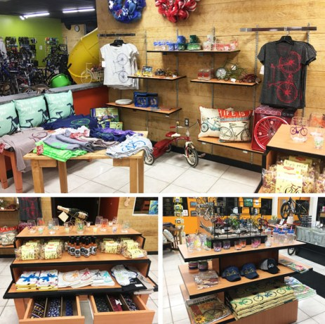 Hometown Bicycles newly stocked gifts and novelties department