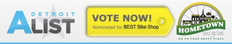 Vote Hometown Bicycles as Best Bike Shop on Detroit A List