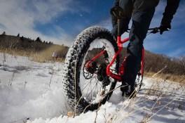 Winter fat bike riding
