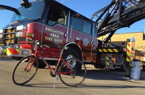 Brighton Area Fire Department: Jamis Bicycle donated by Hometown Bicycles for 9/11 Memorial Run